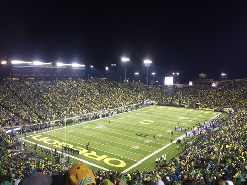 Oregon Ducks Autzen Stadium